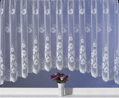 Floral Curtains Ready Made by Floral Jardiniere Ready Made Net Curtain 150 Quot X 63 Quot Drop Ebay