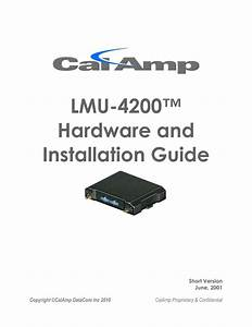 Calamp Lmu 1230 Wire Diagram Awesome