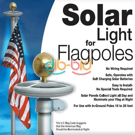 20 led solar powered garden decor light top flag pole