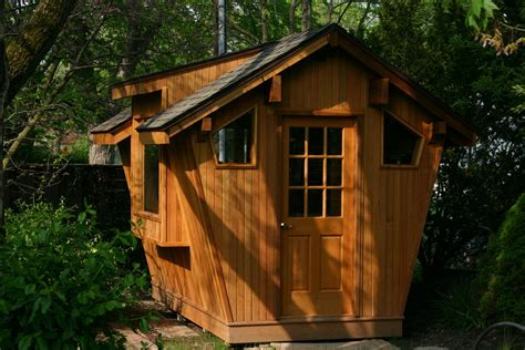 hand crafted cedar potting shed  whim wood custom