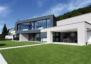 Moderne Innenarchitektur Einfamilienhaus : satteldach modern design fertighaus kubisches fertighaus ~ Lizthompson.info Haus und Dekorationen