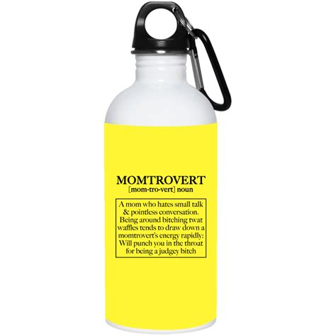 The cup is partially filled with a known volume of water and a sensitive thermometer is inserted through the lid of the cup. Momtrovert Mom Hates Small Talk Pointless Conversation Definition Coffee Mug-Beer Stein-Water ...