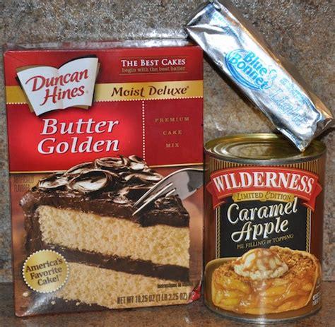 simple apple cobbler   cake mix  cowboys wife