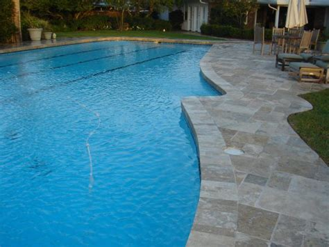 wonderful swimming pool deck tile with travertine pavers