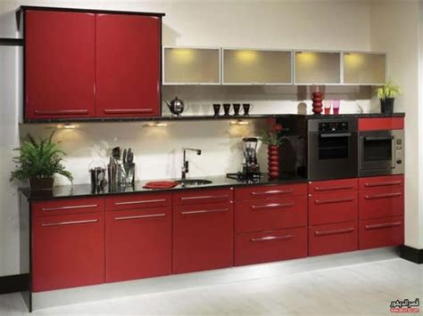 perfect red country kitchen cabinet design ideas for الوان مطابخ الوميتال نبيتى تصميمات مطابخ الوميتال مودرن