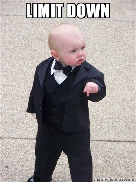 Gangster Baby Meme - limit down gangster baby meme generator