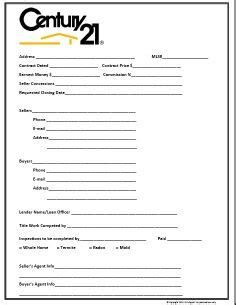 Real Estate Listing Sheet Template by Century 21 Themed Buyer Contact Form Images Frompo