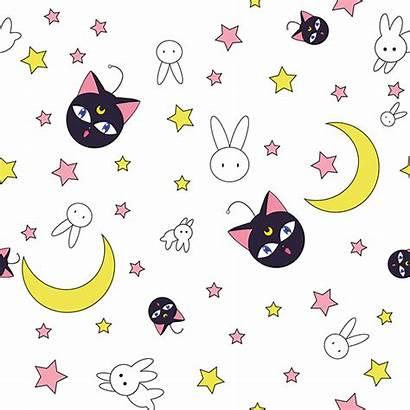 Moon Sailor Kawaii Pattern Background Backgrounds Anime