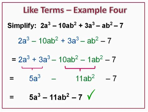 Combining Like Terms  Passy's World Of Mathematics