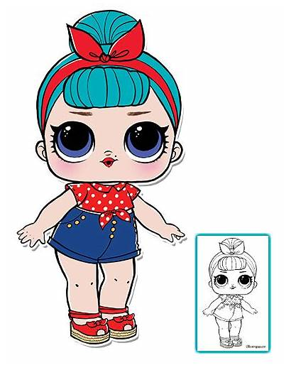 Lol Dolls Surprise Doll Coloring Pages Clipart
