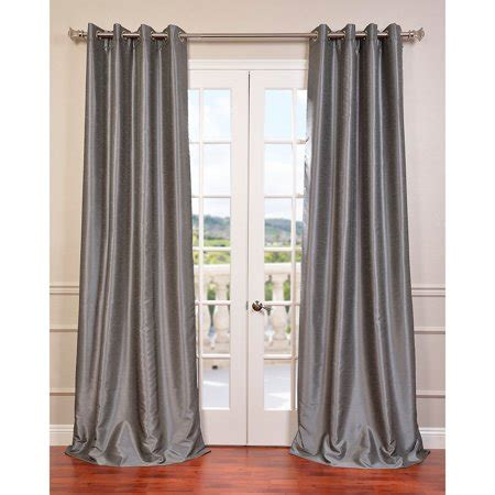 96 Inch Grommet Curtains by Eff Textured Dupioni Faux Silk 96 Inch Blackout Grommet