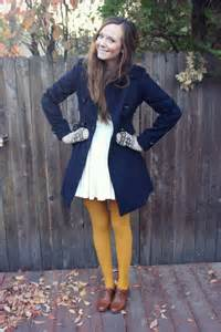 Outfit with Colored Tights