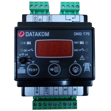 datakom dkg 175 generator mains automatic transfer switch controller ats 230 400 vac din