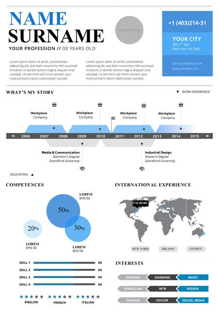 top  infographic resume templates