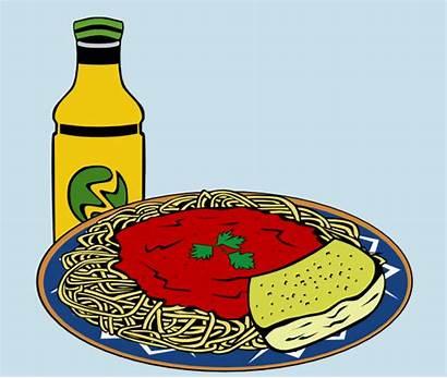 Clip Energy Spaghetti Bread Sauce Garlic Drink