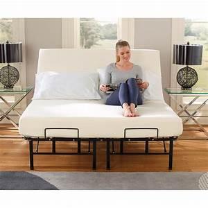 Tranquil Sleep U00ae Portable Adjustable Bed Frame Foundation