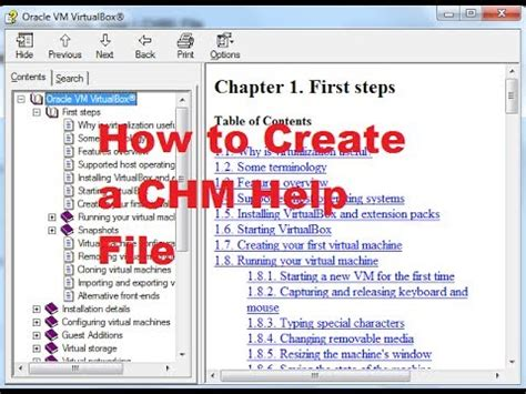 How To Create A Chm Or Compiled Html Help (chm) File Youtube