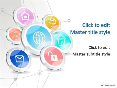 website planning software free tech buttons ppt template