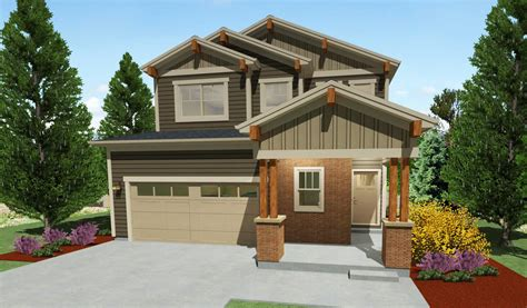 Narrow Lot House Plans Craftsman by Narrow Lot Craftsman House Plan 64416sc Architectural