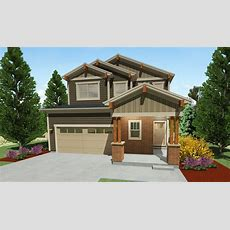Narrow Lot Craftsman House Plan  64416sc Architectural