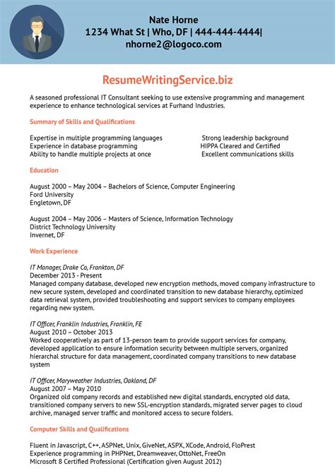 Functional Resume Exle Information Technology by Information Technology Consultant Resume Sle