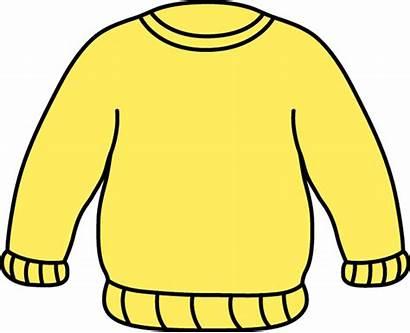 Clip Sweater Clipart Jumper Yellow Sweatshirt Sleeve