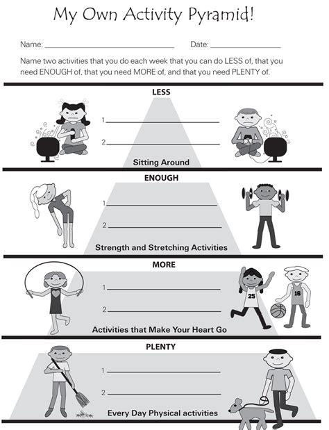 physical fitness worksheet worksheets for all worksheets