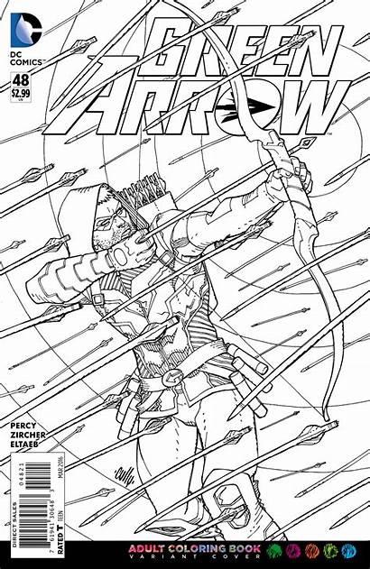 Coloring Dc Arrow Adult Comics Covers Comic