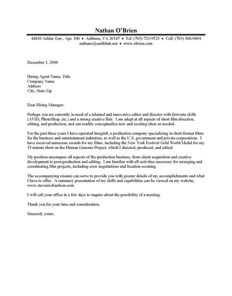 sle cover letter sle cover letter for internship in