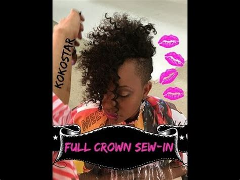 weave alert crazy curly crown full weave sew