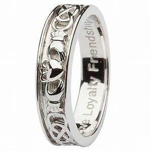 gents silver claddagh celtic wedding ring With celtic claddagh wedding rings