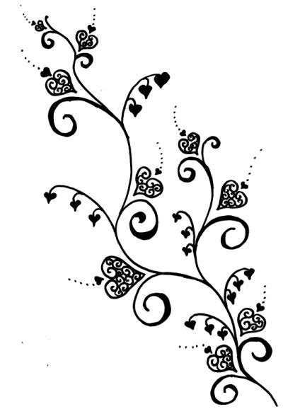 heart vine tattoo designs | Flower vine tattoos, Rose vine