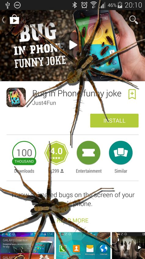 spinne im telefon witz amazonde apps fuer android
