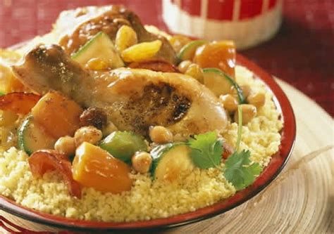couscous poulet legumes cookeo  plat de la cuisine