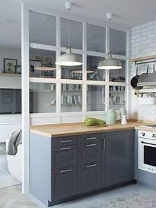 deco cuisine retro avec une verriere interieure With cuisine avec verriere interieure