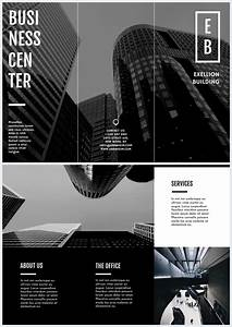 Design Your Own Flyer Black White Trifold Business Brochure Template Flipsnack