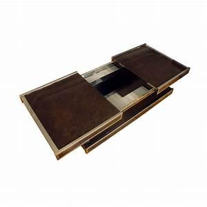 Plateau Pour Table : table basse bar vintage double plateau pour roche bobois design market ~ Teatrodelosmanantiales.com Idées de Décoration