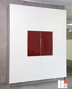 Facade verre laque dressing concept for Porte de garage coulissante et porte interieur blanc laqué