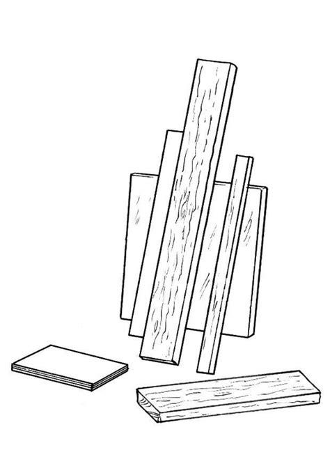 coloring page wood shelving img