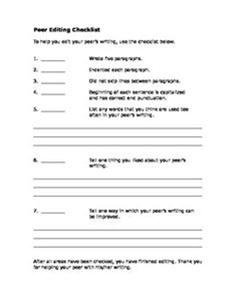 13 best images of peer editing worksheet peer editing worksheet for a cause and effect essay