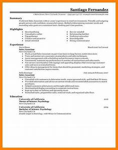 6 resumes examples for retail
