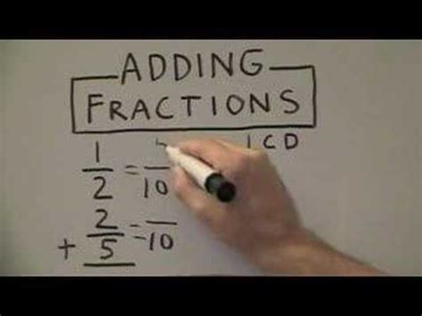 adding fractions   denominators youtube