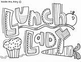 Classroom Coloring Pages Doodles Doodle Lunch Lady Appreciation Teacher Community Week Thank Nurses Classroomdoodles Luncheon Gifts Cards Nurse Colouring Sheets sketch template