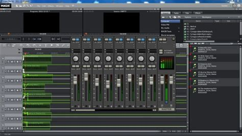 audio desk recording software magix video pro x review part two