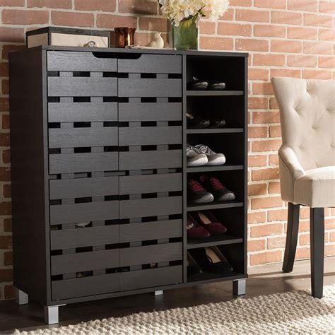 shoe storage cabinet with doors shoe storage closet storage organization the home depot