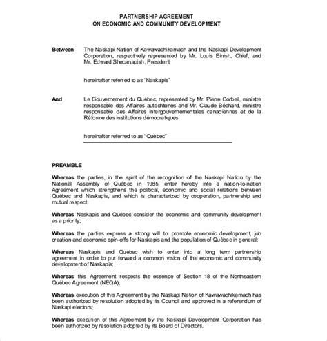 partnership agreement templates  sample