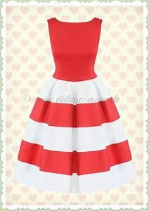 Rot Weiß Gestreift : dolly dotty 50er jahre retro streifen petticoat kleid anna rot wei ~ Markanthonyermac.com Haus und Dekorationen