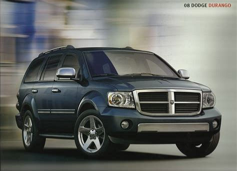 2008 Dodge Durango Brochure Catalog 08 Sxt Slt Adventurer