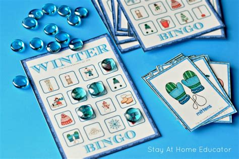 winter theme preschool lesson plans stay at home educator 780 | Winter bingo in winter theme preschool lesson plans 1