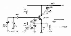 colpitts crystal oscillator simple circuit diagram With oscillator circuit